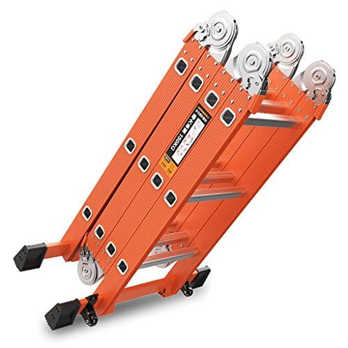 Teleskopleiter 3,7 M (12 ft) / 4,7 M (15 ft) Aluminiumverlängerungs-Mehrzweckleiter, 150 kg (größe : 2.3m+2.3m/4.7m Straight Ladder)