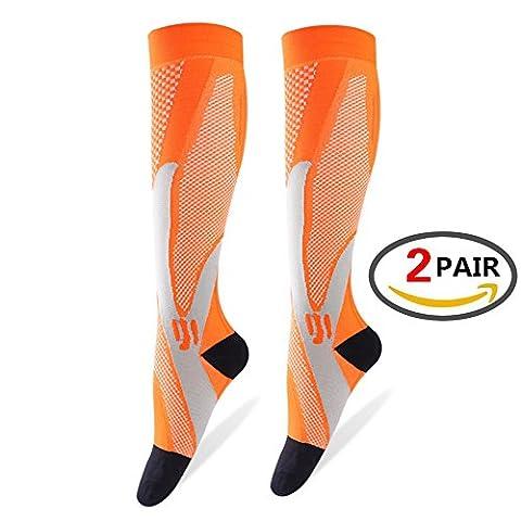 & # xff08; 2Paar & # xff09; Kompressions-Wadenbandage Sleeve für Männer & Frauen, Best Footless Socken für Läufer Waden &, tibiakantensyndrom Durchblutung Remedy, Unterstützung, Laufen Gear Basketball Lycra Strumpfhosen, (Smartwool Snowboard Socke)