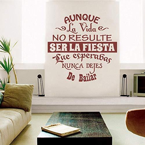 Fengdp Vinyl wandaufkleber Spanisch Zitate Buchstaben wandtattoos künstler Dekoration tapete Wohnzimmer Dekoration D 55 * 55 cm