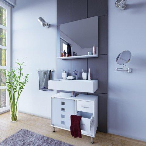waschtischunterschrank 1 schublade - Bestseller Shop für Möbel und ... | {Waschbeckenunterschrank stehend mit schubladen 40}