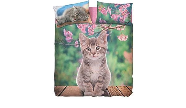 Copripiumino NICE CAT matrimoniale bassetti sacco 250x200 + cm.45 pattella rimbocco =245 + 1 sotto lenzuolo 175x200 + 2 federa double face 50x80