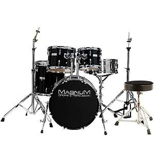 Magnum Economy 20 black + Hocker · Schlagzeug