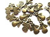 beadsvision 30 Charms Engel Made for an Angel 17x12mm Farbe Bronze Anhänger Metall #S317