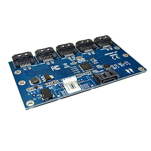 Misszhang-US SATA 1 zu 5 Port Konverter Motherboard Multiplier Riser Adapter Karte Hub Kabel Mehrfarbig Multi Hdd Digital Recorder
