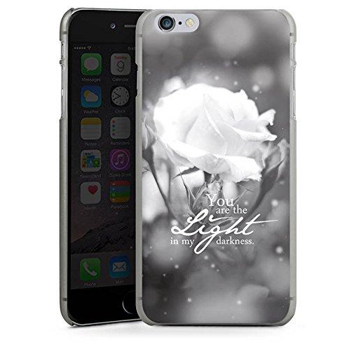 Apple iPhone X Silikon Hülle Case Schutzhülle Liebe Rose Statement Hard Case anthrazit-klar
