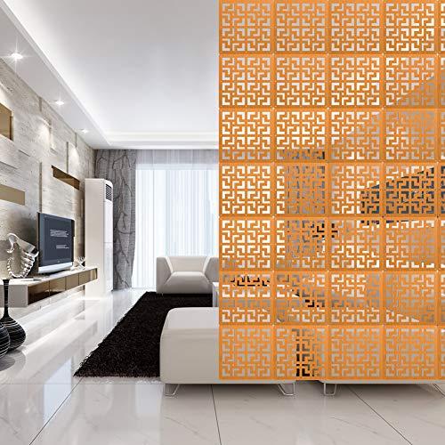 Y-Step 9 Stück Holz hängende Raumteiler Screen Hängepaneel für Bettwäsche, Abendessen, Arbeitszimmer, Hotel, Büro, Bar Dekoration Holz -