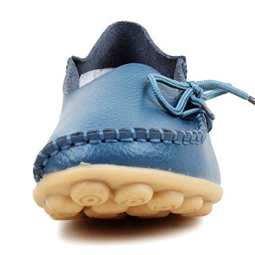 Fangsto  Loafer Flats,  Damen Sneaker Low-Tops Hellbalu