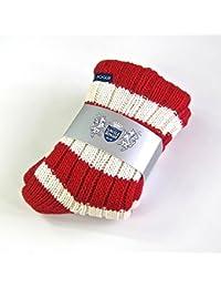 Slipper Socks - Red and White Stripes