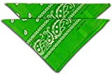 FashionCHIMP Nicki-Halstuch aus 100% Baumwolle im 2er Set, Unisex Bandana, AZO-Frei (Grün)