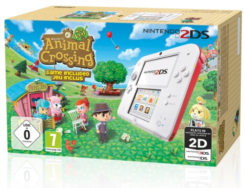 Console Nintendo 2DS - blanc & rouge + Animal Crossing : New...