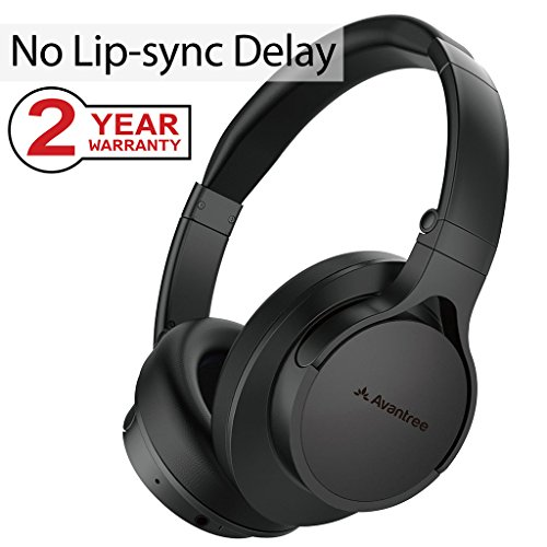 Auriculares Bluetooth súper cómodos para TV PC, bajo retardo de audio, funciona mejor con Avantree Priva III, Audikast, juego de auriculares con diadema para escuchar música con cable, sin cable, plegable, con buen sonido y para videojuegos - HS063 [garantía de 24 M]