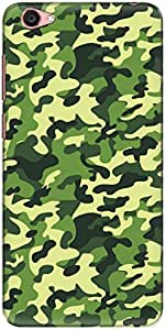 The Racoon Lean printed designer hard back mobile phone case cover for Vivo Y55L. (Camouflage)