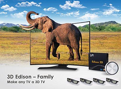 3D Edison Family - Make Any TV a 3D TV (4 x 3D Shutter Glasses)