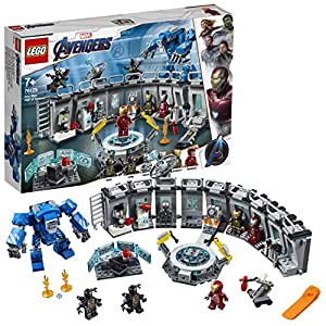 LEGO - Super Heroes Sala delle Armature di Iron Man, Include 6 Minifigure, Set di Costruzione Ricco di Dettagli e Idea… 99, months LEGO