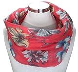PiriModa XXL Damen Schal leichter Schlauchschal Viele Farben Blumen (Modell 5)
