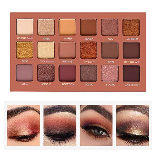 4ec6fea145c4 SEPROFE Eyeshadow Palette Professional Smokey Eye Shadows Nudes Highly  Pigmented 18 Warm Chocolate Colors Matte Shimmer Neutral Eyeshadow Makeup  Kits