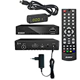 Edision progressiv Hybrid Lite DVB-C/T Kabel Receiver für digitales Kabelfernsehen inkl. externes 4 stelliges Display Infrarot Auge
