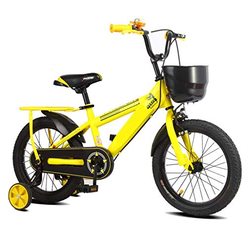 HYCy Children Bicycle Boy Girl 2-3-4-6-7-8 Years Old Bicycle with Auxiliary Wheel
