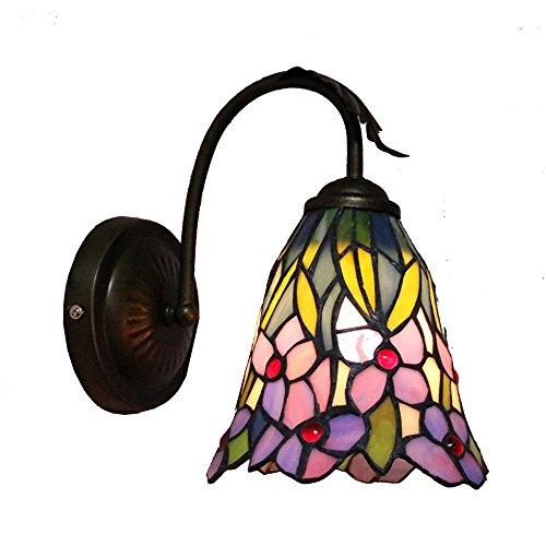 Country rustikal Badezimmer Wandleuchten Colorful Glas nach unten Orchidee Randy Nachttisch Schlafzimmer Wandleuchte Tiffany Spiegel vor Wohnzimmer Wand Leuchten -