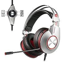 PS4 Gaming Auriculares para Juegos de PC con Micrófono, NUBWO Auriculares Estéreo de con Control