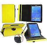 Emartbuy® Posh Equal Max S900 Tablet 9 Pulgadas Universal ( 9 - 10 Pulgadas ) Padded Design Amarillo 360 Grados Giratorio Caso Cubrir Cover + Negro Lápiz Óptico