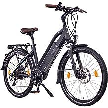 "NCM Milano+ 48V, 26"" / 28"" Zoll Damen & Herren Urban E-Bike, 250W Das-Kit Heckmotor, 14Ah 672Wh Panasonic Li-Ion Zellen Akku, hydraulische Scheibenbremsen, 8 Gang Shimano Schaltung"