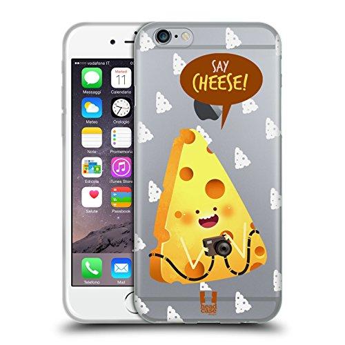 Head Case Designs Di Cheese Scherzi Con Il Cibo 2 Cover Morbida In Gel Per Apple iPhone 6 / 6s
