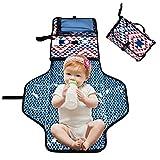 iBellete Portable tappetino per il cambio pannolino, tasche, pieghevole per neonato orinatoio Pad fasciatoio kit per casa viaggio esterno
