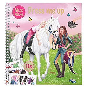 Depesche- Libro para Colorear Dress Me Up, Miss Melody, Aprox. 19 x 17,7 x 1,5 cm. (10749)