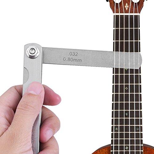 Edelstahl Fühlerlehre Feeler Gauge Ruler 30 Guitar Gauge Lineal Guitar Luthier Tools Set, 30 Stücke Edelstahl Gitarre Fühlerlehre Luthier String Höhenmesswerkzeug Gitarren Reparatur Werkzeuge