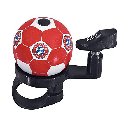 Fahrradklingel FC Bayern München FCB + gratis Aufkleber, Klingel, Munich, Bicycle bell (Bell Fußball-trikot)