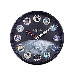 YOU339 10 Inches Apollo AR Wanduhr, Kreative stille hängende Uhr Keine tickende dekorative Uhr für Büros Wohnzimmer Schlafzimmer, 25cm