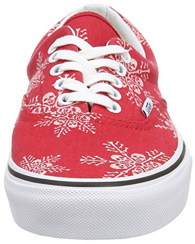 Vans Era, Baskets Basses Mixte Adulte Rouge (Van Doren/Skull Snowflake/Racing Red)