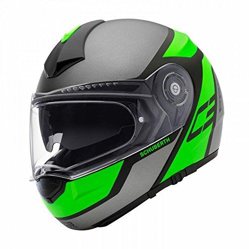 Schuberth C3 Pro Echo Green - Motorrad Klapphelm, 53 XS