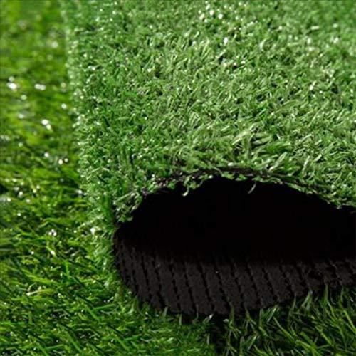 ynfngxu altezza del mucchio del tappeto erboso artificiale di 15mm, decorazione all'aperto della pista da giardino del prato inglese di festa dell'alta densità di 2x1m