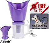 #10: Naulakha 3 In 1 Facial Sauna Steamer , Nose Steamer , Nose Vaporiser , Nozzle Inhaler , Cough Steamer (Purple) FREE WHITE DOG KEYCHAIN INSIDE