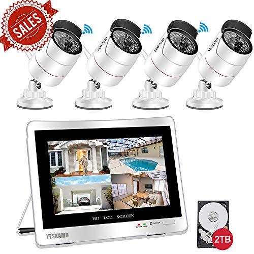 YESKAMO Überwachungskamera Set Aussen Wlan mit 4 x 1080P WiFi Wasserdicht Kameras 12
