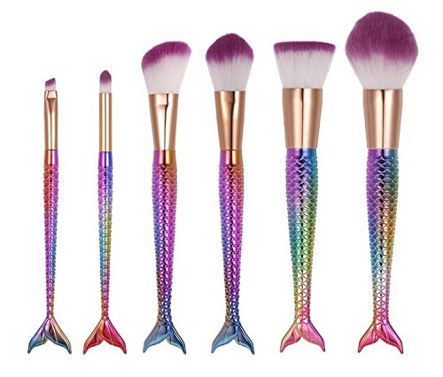 Smallgirl Make-up-Pinsel-Set, 6 Stück, tragbar, Grundierung, Augenbrauen, Eyeliner, Rouge,...