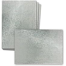 Holographie Papier DIN A4 | 10 Bogen | Silberhologramm Mit Floralem  Blumenmuster | 210 X