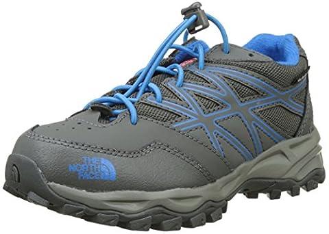The North Face Unisex-Kinder Hedgehog Hiker Waterproof Trekking-& Wanderhalbschuhe, Mehrfarbig (Graphite Grey/Brilliant Blue), 32 EU