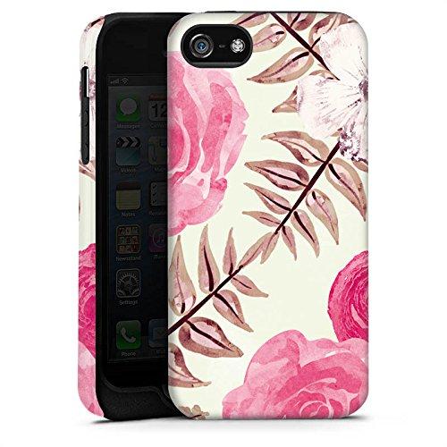 Apple iPhone X Silikon Hülle Case Schutzhülle Flower Frühling Vintage Tough Case matt