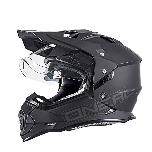 0817 Farbe Schwarz Orange ONeal Sierra II Comb Motocross Motorrad Helm MX Enduro Trail Quad Cross Offroad Gel/ände Gr/ö/ße S