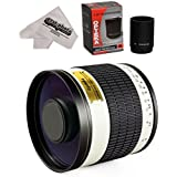 Opteka 500mm / 1000mm f/6.3 Telephoto Mirror Lens for Nikon D5, D4S, DF, D4, D3X, D810, D800, D750, D700, D610, D500, D300, D7200, D7100, D5500, D5300, D5200, D5100, D3300, D3200 Digital SLR Camera