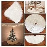 ODN Deco runde Filz-Baumdecke Weißer Weihnachtsbaum Rock schürzen Weiß-Schnee-Weihnachtsthema-Verzierung