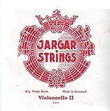 Jargar Jeu Violoncelle D Acier Chrome enroulée Rouge (Forte), J941r