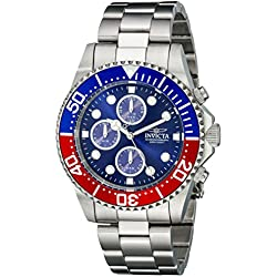 Invicta 1771 43mm Silver Steel Bracelet & Case flame fusion Men's Watch