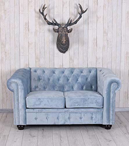 Unbekannt Chesterfield Sofa SAMT Couch Polstersofa Sitzmöbel British Chic Palazzo Exklusiv