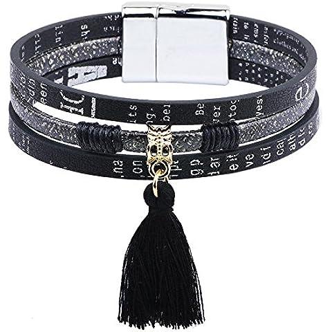 SUYA pulseras,3pcs, joyería, de acero de titanio cierre magnético, joyas con borlas, pulsera de acero inoxidable botón, pulsera creativa, joyería, regalos creativos ,