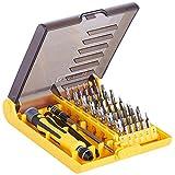 VonHaus Boîte à outils vissage/serrage acier inoxydable - 45 pièces