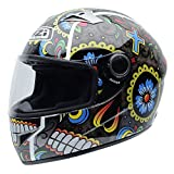 NZI 050264G885 Vital Graphics Mexrood Casco De Moto, Color Amarillo / Azul / Rojo, Talla 56 (S)